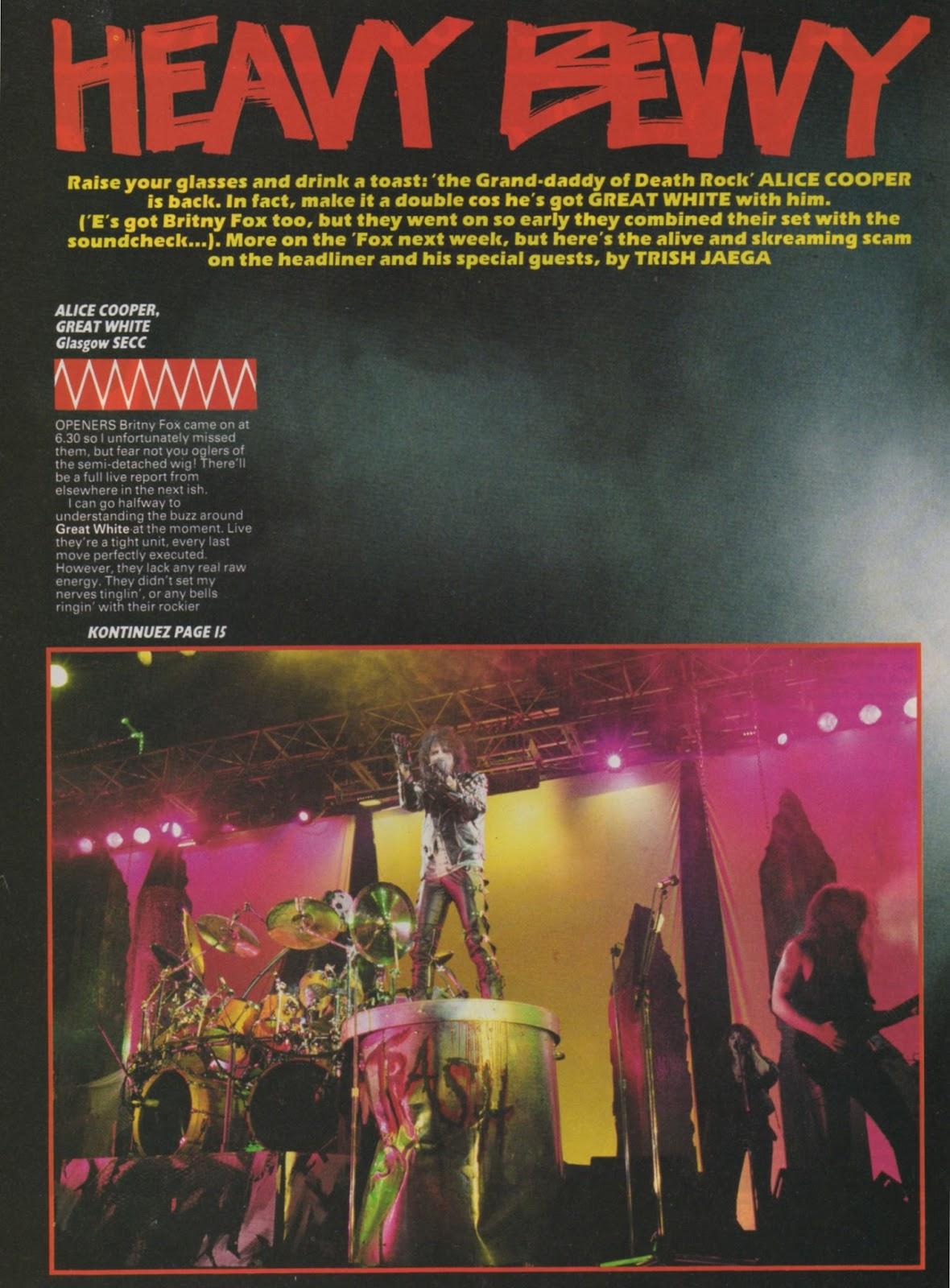 EvenSpot Speaks 1989 December 16 Kerrang! Glasgow Review