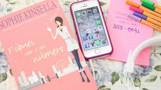 Livro Fiquei com o seu número, Iphone, Post-it e canetinhas