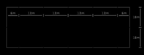 pista de doma clásica de 20x60m