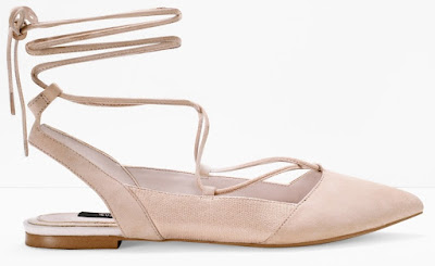 Lace-Up Slingback Flats $30 (reg $110)