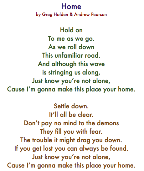 Phillip Phillips Song Lyrics Home