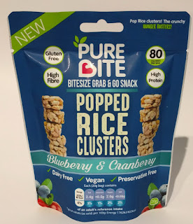 Pure Bite popped rice clusters blueberry & cranberry
