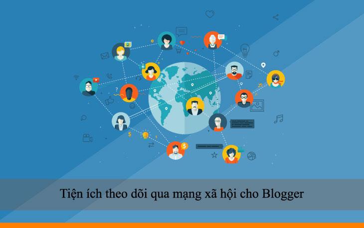 Tiện ích theo dõi qua mạng xã hội cho Blogger