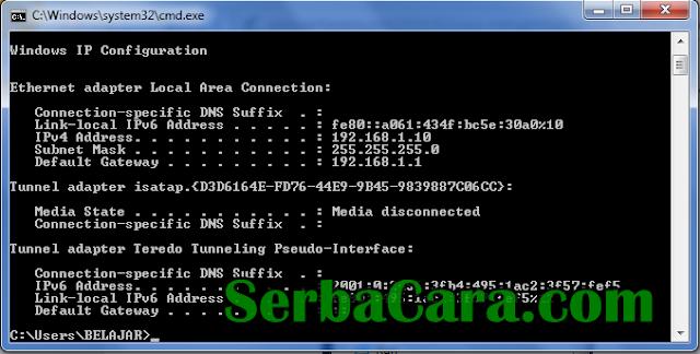 Cara Mudah Melihat IP Address Komputer Kita