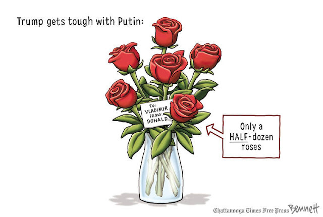 Image:  Vase of roses.  Call-out points to roses saying,