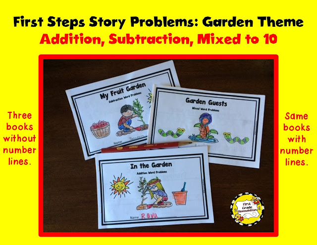 The Three Books Included Are: In The Garden, My Fruit Garden, And Garden  Guests. (Six Books Total: 3 Without And 3 With Number Lines.)