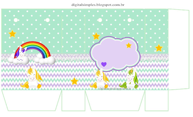 Lovely Unicorns: Free Printable Boxes.