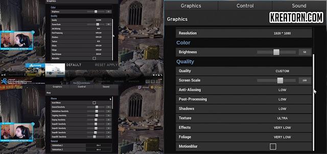 Shroud PUBG CFG ve Graphics Settings