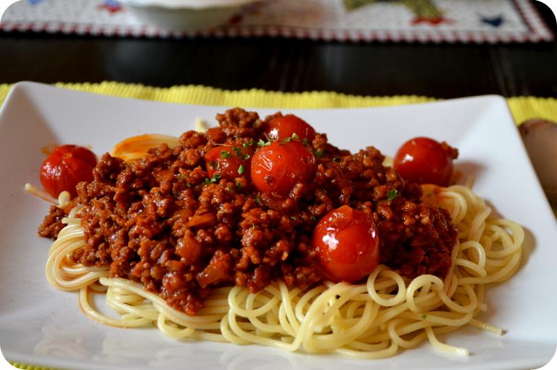Vegane Bolognese mit Soja