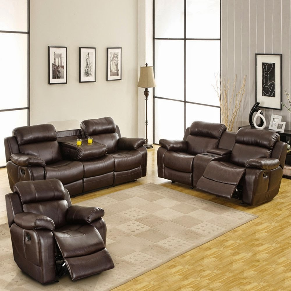 Reclining sofa sets sale reclining sofa sets with cup holders for Leather sofa set