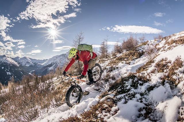 Mountainbike Tour Winter Schnee Trunajoch