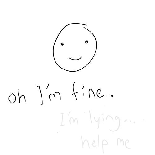 Depression Quotes Really Sad Anime. QuotesGram  |Im Fine Tumblr Girl