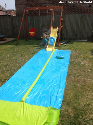 Waterslide in the garden