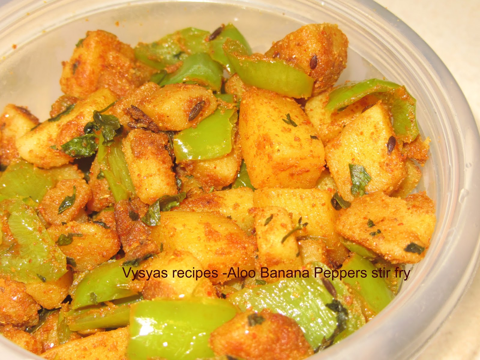 Potato Banana Peppers fry