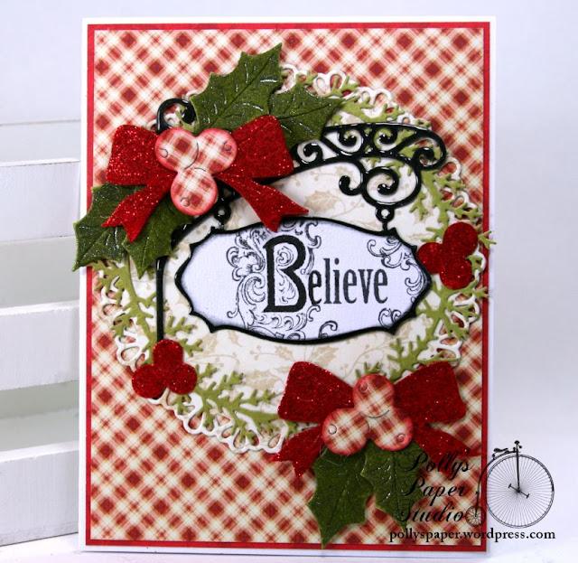 believe sign christmas greeting cardginny  cheery