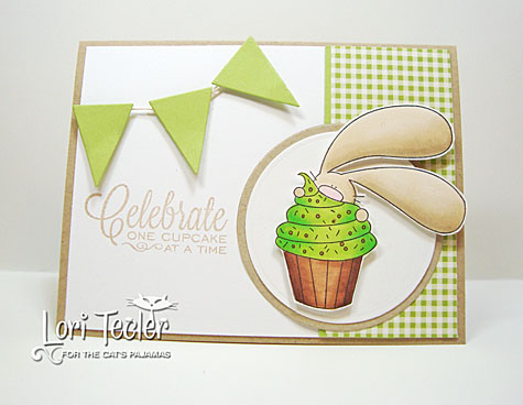 One Cupcake at a Time card-designed by Lori Tecler/Inking Aloud-stamps from The Cat's Pajamas
