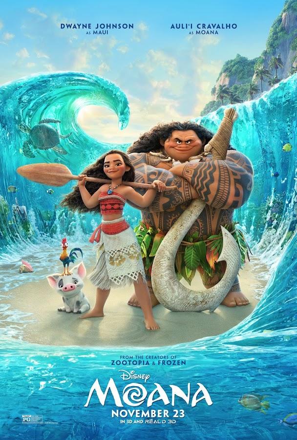 ตัวอย่างหนังใหม่ : Moana (โมอาน่า ผจญภัยตำนานหมู่เกาะทะเลใต้) ซับไทย poster1