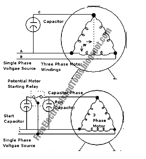 Free Schematic Diagram: Enabling 3 Phase Motor to Operates