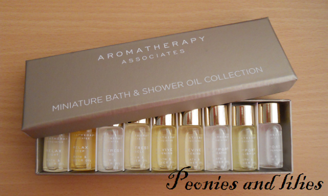 Aromatherapy Associates miniature bath and shower oil collection, Aromatherapy associates