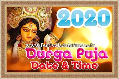 2019 Durga Puja Calendar Date Time