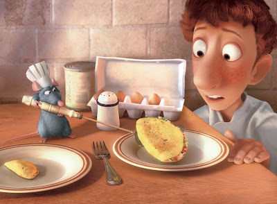 "The omelette scene from ""Ratatouille"" (2007). Image copyright of Disney/Pixar."