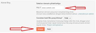 Cara Mudah Menganti Domain Blogspot Dengan Domain Sendiri