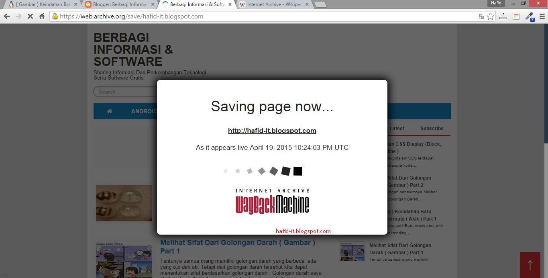 Proses penyimpanan web di web archive