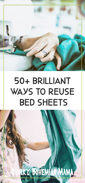 How to reuse bed sheets, DIY bed sheet projects, clothes from bed sheets, frugal DIY, upcycle bed sheets, recycle bed sheets  what to do with old sheets and pillowcases. sewing with old sheets. what to do with old blankets and comforters. how to reuse old bed sheets . thrifty diy projects. Bohemian blog. Bohemian mom blog.