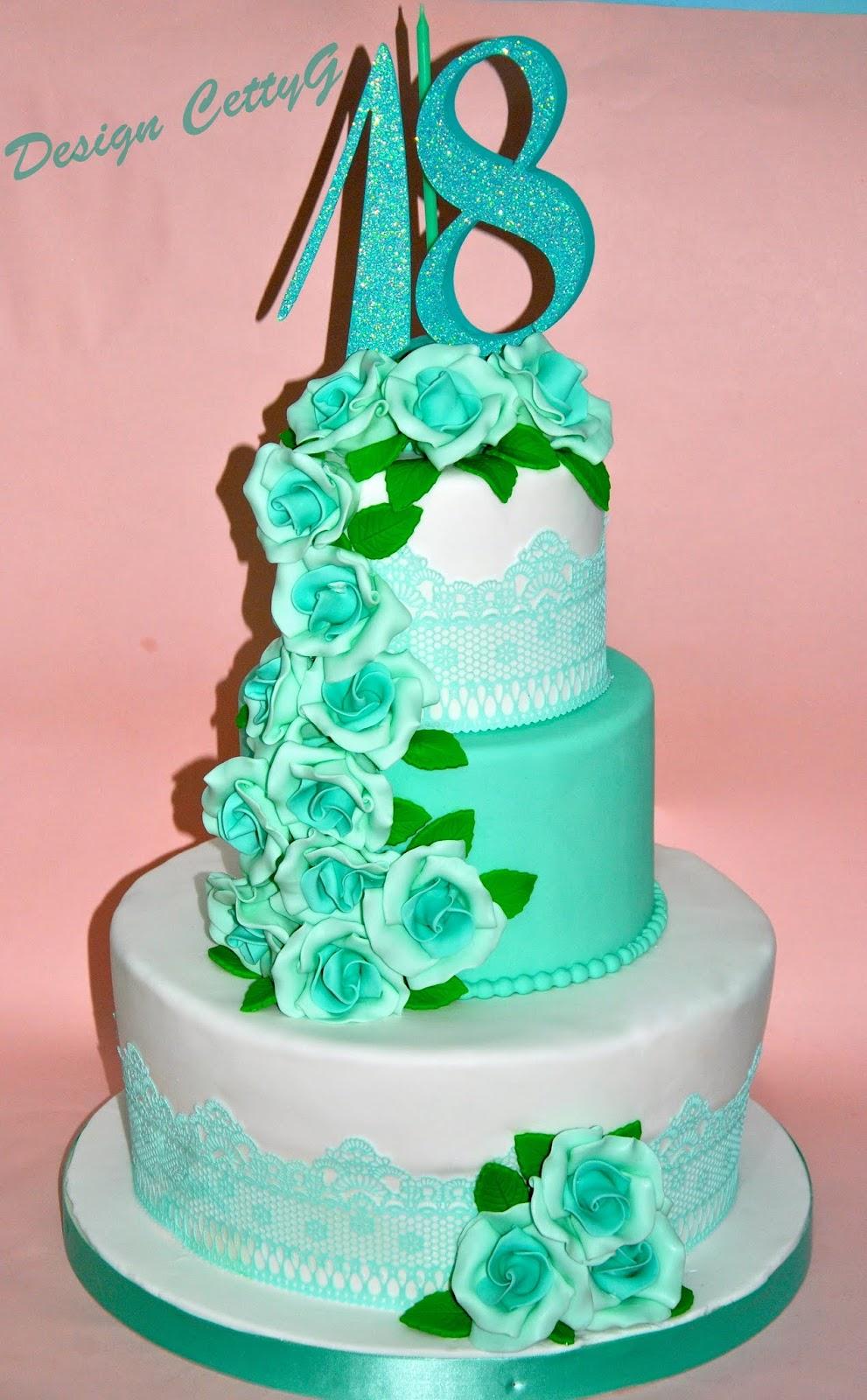 Le torte decorate di cetty g 18 compleanno tiffany for Torte per 18 anni maschile