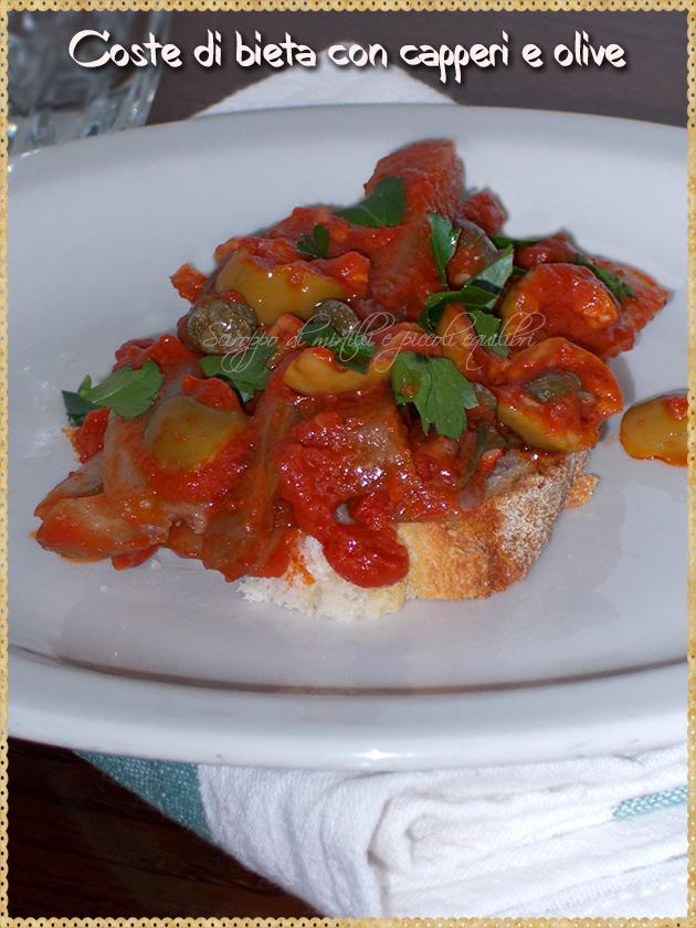 Coste di bieta con capperi e olive