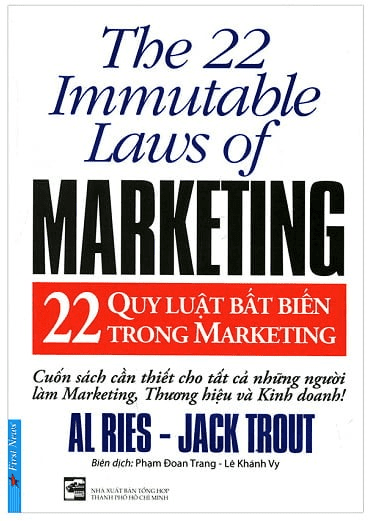 Sách Marketing: 22 QUY LUẬT BẤT BIẾN TRONG MARKETING - Al Ries, Jack Trout.