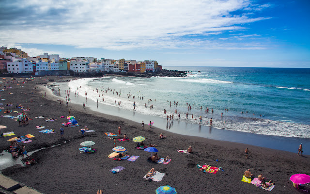 Playa Jardin, one of the most beautiful beaches of Tenerife, Canary Islands