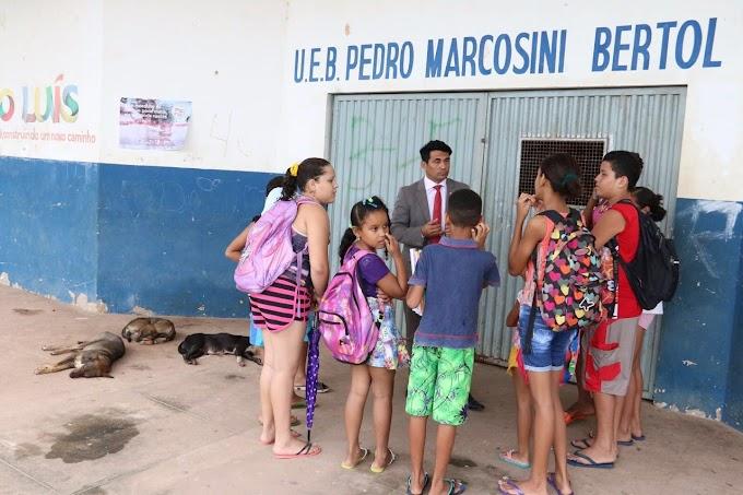 Deputado Wellington denuncia abandono de mais uma escola em São Luís