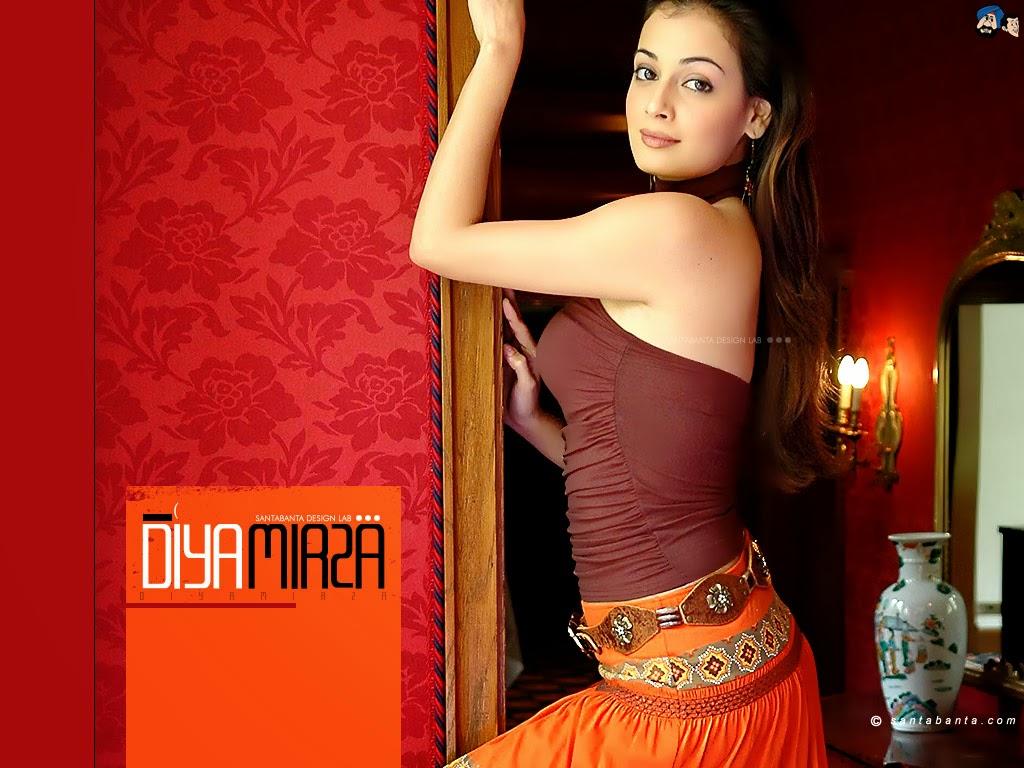 Diya Mirza Hot Sexy Boobs Naked, Bollywood Actress Diya -1470
