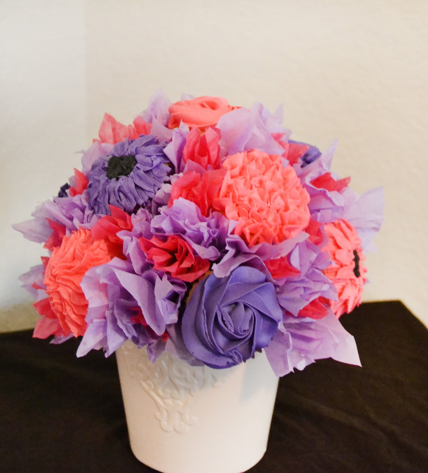 For the Love of Food: DIY Flower Cupcake Bouquet