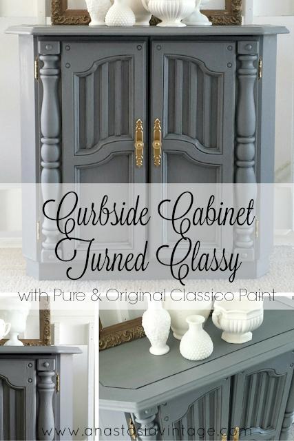pure and original pigeon grey libo blue cabinet Anastasia Vintage