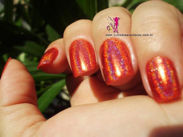 Vermelho Surreal Jade Holográfico
