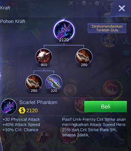 Item ke empat build Martis Mobile Legend burst damage