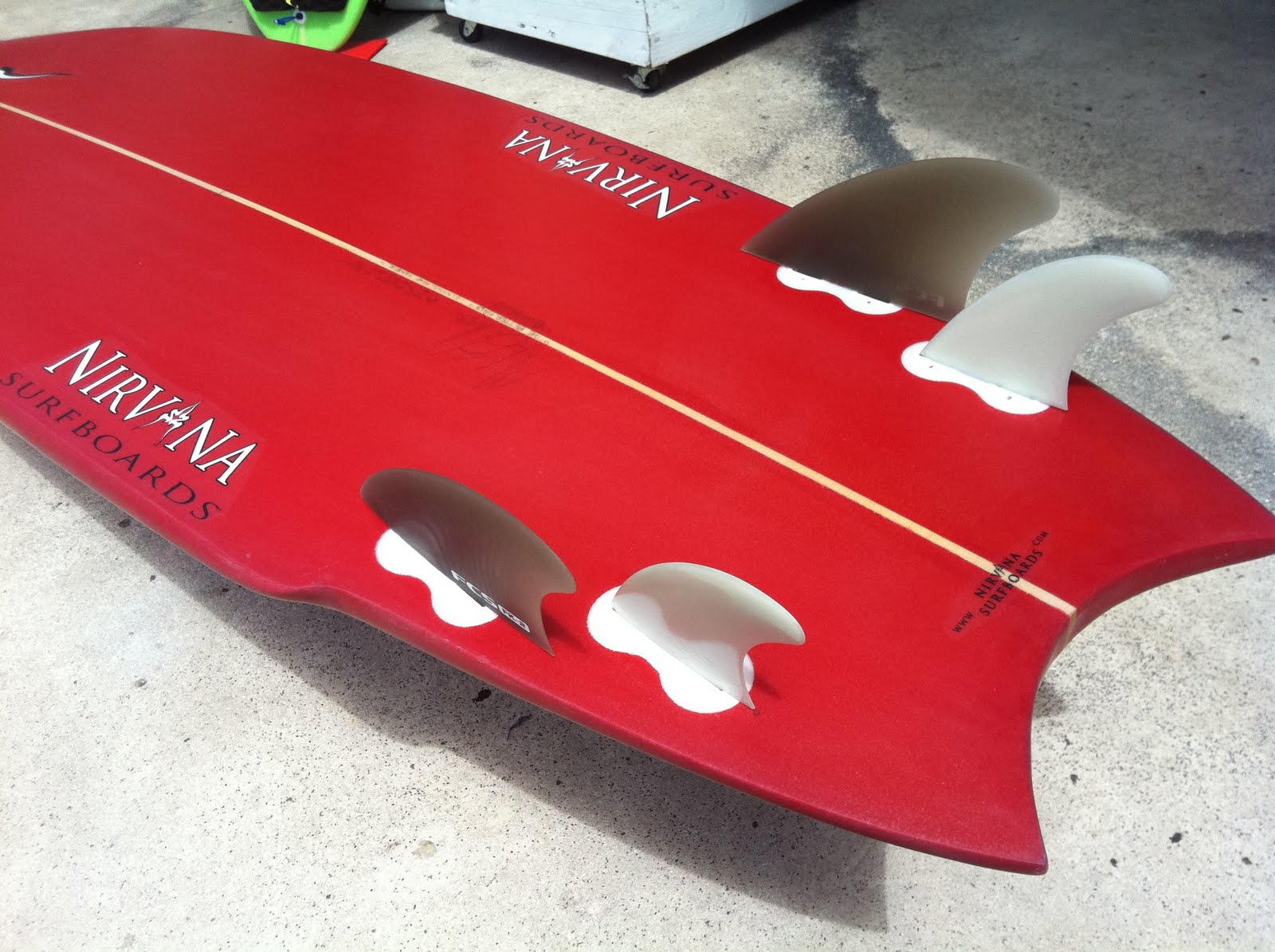 Collectic Home Nirvana Surfboards Red Moon Rocket 5 14 Quot X 21 4 7 Quot X 2