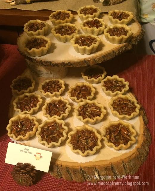 Woodland Creature Baby Shower food mini pecan pies