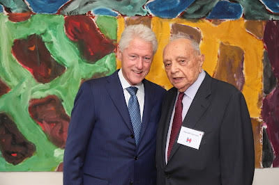 President Bill Clinton with Bill Berman at a Hillary Clinton Campaign event in 2016 (Rabbi Jason Miller's Blog)