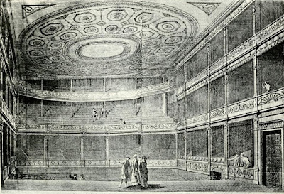 Drury Lane Theatre in 1775 from Shakespere to Sheridan by A Thaler (1922)