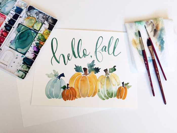 Watercolor Fall Printable