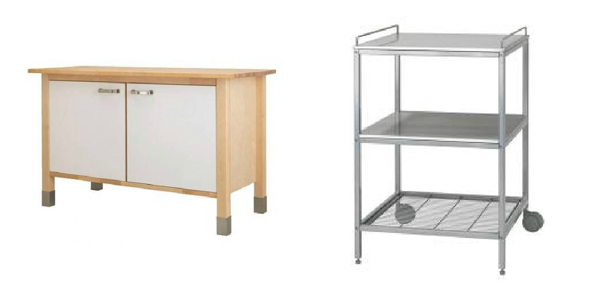 IKEA Free Standing Kitchen Surfaces.