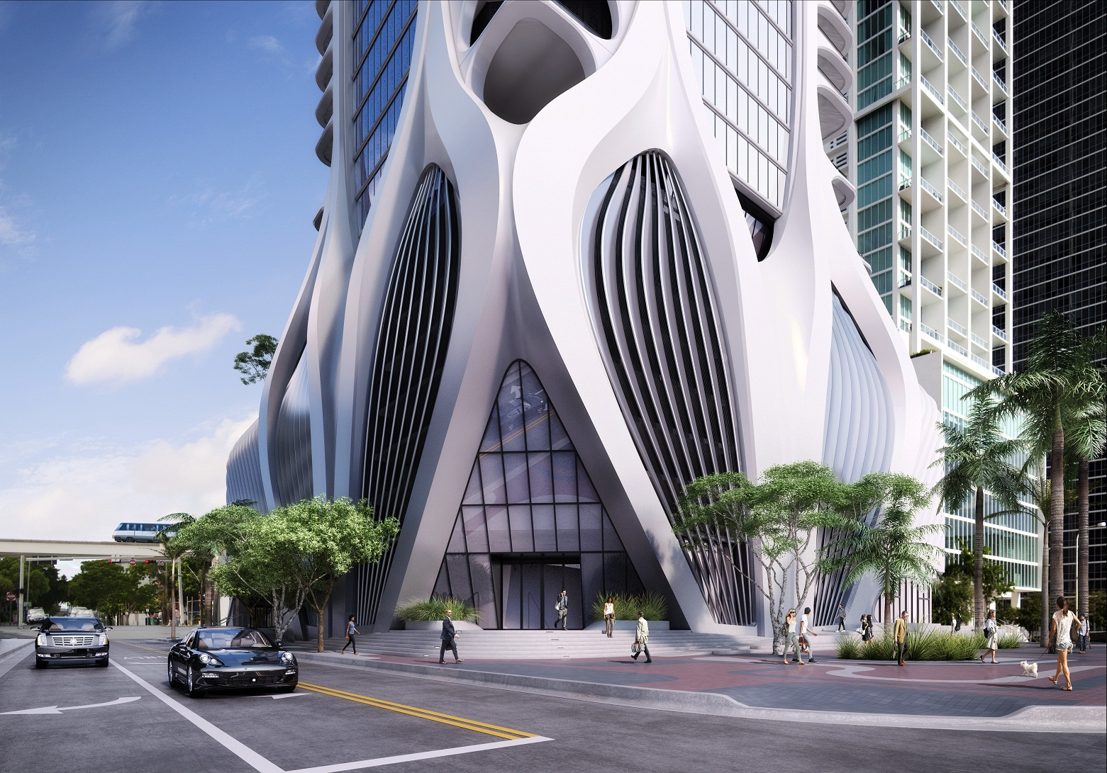 zaha hadid design project 1000 museum in miami beach usa. Black Bedroom Furniture Sets. Home Design Ideas