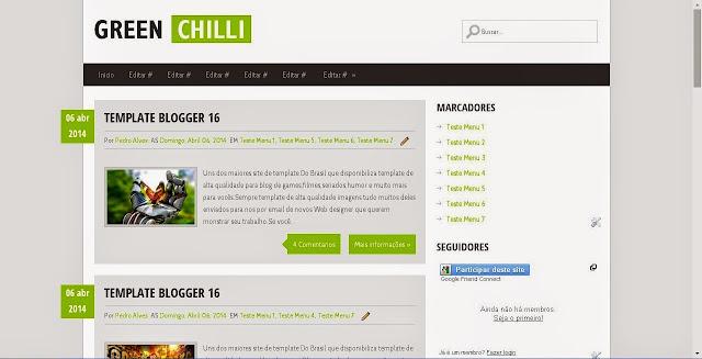Template Green Chilli Blogger 830