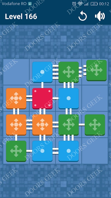 Connect Me - Logic Puzzle Level 166 Solution, Cheats, Walkthrough for android, iphone, ipad and ipod