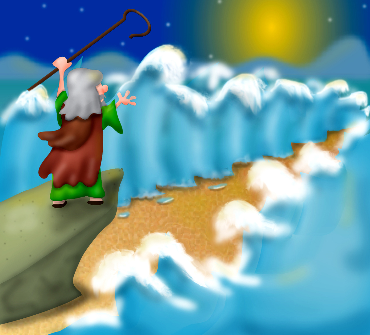 Mr Biblehead: God Uses Moses to Part the Red Sea Exodus14