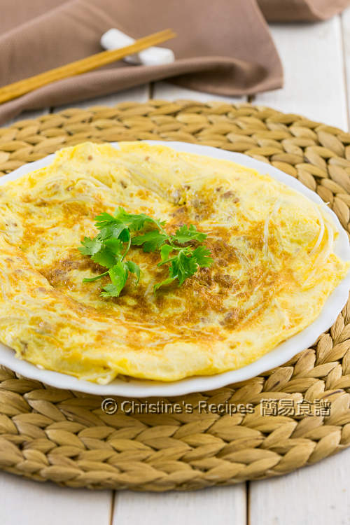 Pork & Bean Sprout Omelette02