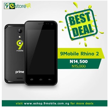 9Mobile Launches ₦14,000 Android Phone Called Rhino 2 Prime 1